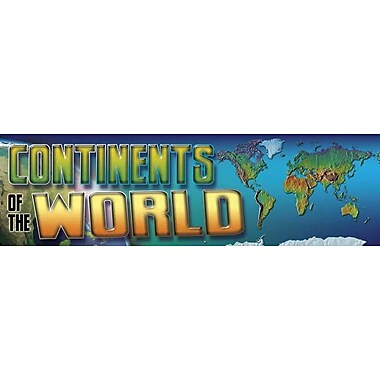 Mark Twain Continents of the World Bulletin Board Set