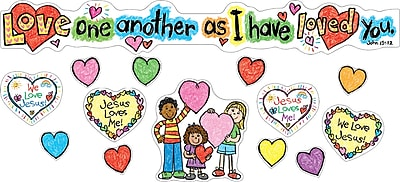 Carson-Dellosa Love One Another Bulletin Board Set