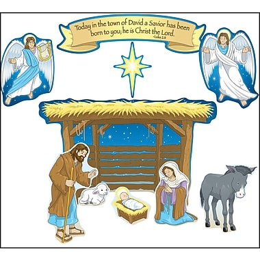 Carson-Dellosa Nativity Bulletin Board Set, Religion, All Grades