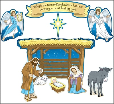 Carson-Dellosa Nativity Bulletin Board Set, Religion, All Grades