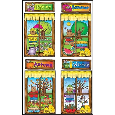 D.J. Inkers Four Seasons Windows Bulletin Board Set
