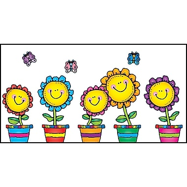 Carson-Dellosa D.J. Inkers Blooming Flowers Bulletin Board Set (610049)