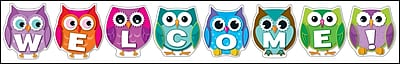 Carson-Dellosa Colorful Owl Welcome Bulletin Board Set