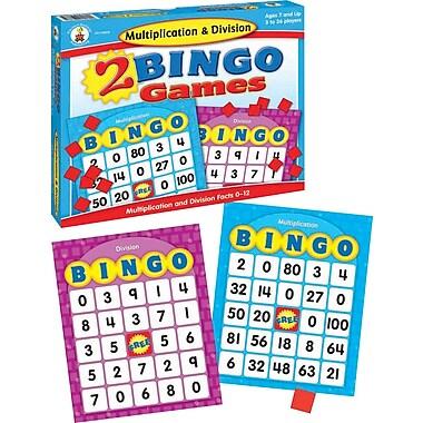 Carson-Dellosa Multiplication & Division Bingo Board Game
