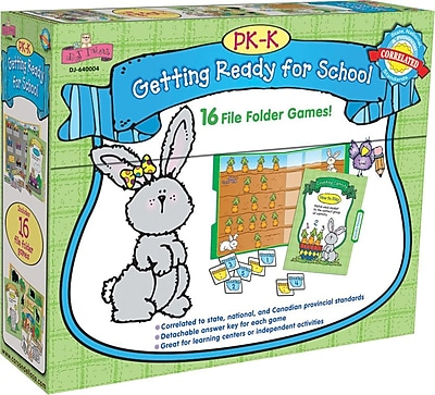 D.J. Inkers Getting Ready for School File Folder Game