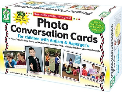 Key Education Photo Conversation Cards for Children with Autism and Aspergers Board Game