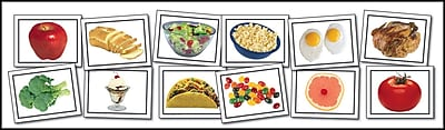 Key Education Nouns: Food Learning Cards