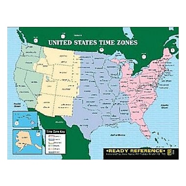 Instructional Fair U.S. and World Maps with Time Zones Learning Cards