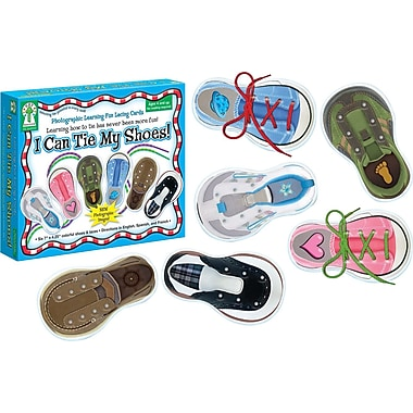 Carson-Dellosa Key Education I Can Tie My Shoes Lacing Cards, 12/pack (846000)