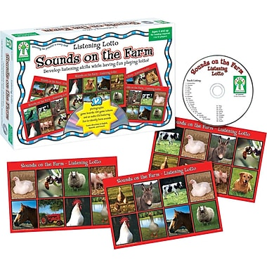 Key Education Listening Lotto: Sounds on the Farm Board Game