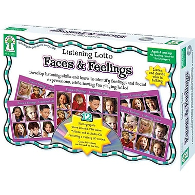 Carson-Dellosa Key Education Faces and Feelings Board Game, 133/pack (846032)