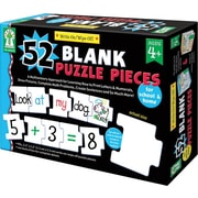 Key Education Write-On/Wipe-Off: 52 Blank Puzzle Pieces Manipulative