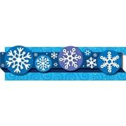 "Carson-Dellosa Publishing 108042 3' x 3"" Straight Holidays & Snowflakes Borders, Blue"
