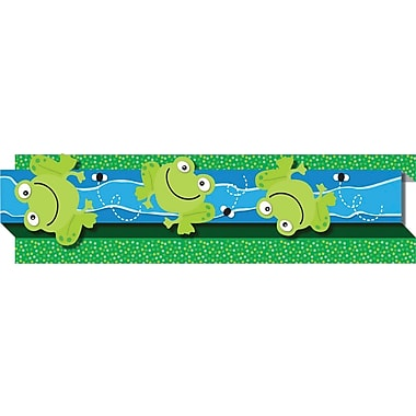 Carson-Dellosa Publishing 108046 3' x 3in. Straight Frogs & Bugs Borders, Multicolor