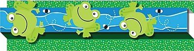 Carson-Dellosa Frogs Borders, (8) Eight 3' x 3' Strips
