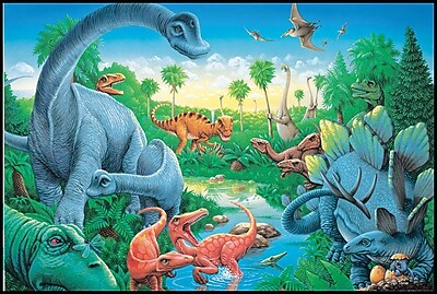 Instructional Fair Dinosaurs Floor Puzzle