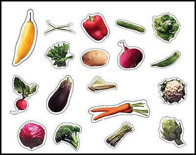 Carson-Dellosa Vegetables Shape Stickers