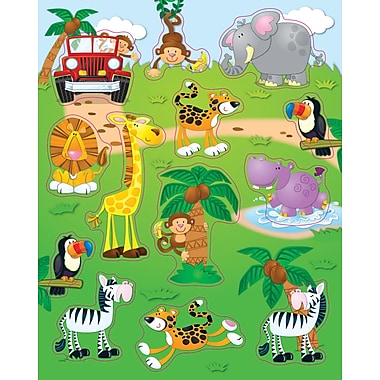 Carson-Dellosa Jungle Safari Shape Stickers