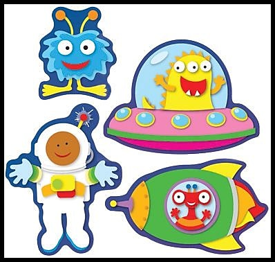 Carson-Dellosa Out of this World Shape Stickers
