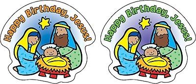 Happy Birthday, Jesus! Shape Stickers, 72/Pk