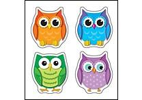 Carson-Dellosa Colorful Owls Shape Stickers