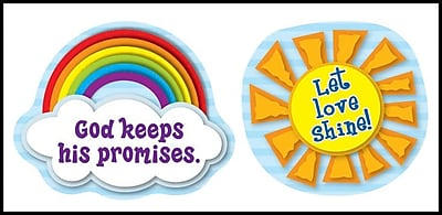 Carson-Dellosa Let Love Shine Shape Stickers