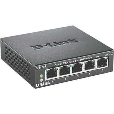 D-Link® DES-105 5-Port 10/100 Fast Ethernet Unmanaged Switches