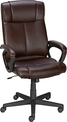 Staples® Turcotte Luxura® High Back Office Chair, Brown