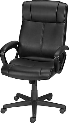 Black leather office chair Contemporary Office Chair Black Httpswwwstaples3pcoms7is Staples Staples Turcotte Luxura High Back Office Chair Black Staples