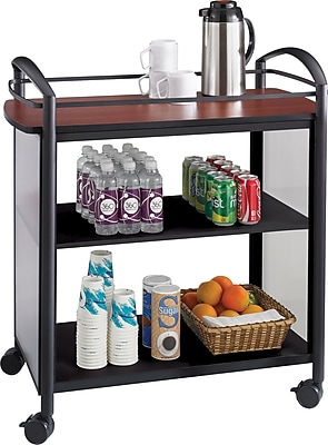 Safco® Impromptu® Beverage Cart, Black, 36 1/2