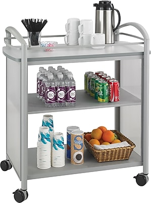 Safco® Impromptu® Beverage Cart, Gray, 36 1/2