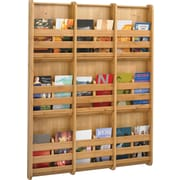"Safco Bamboo Magazine Wall Rack, 9 Pocket, Natural Bamboo, 37 3/4""H x 29""W x 1 3/4""D"