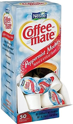 Nestle® Coffee-mate® Liquid Coffee Creamer Singles, Peppermint Mocha, 50/Bx