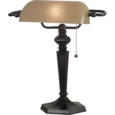Kenroy Chesapeake Incandescent Banker Lamp, Oil Rubbed Bronze Finish