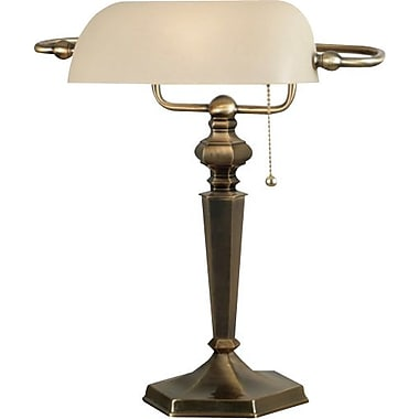 Kenroy Mackinley Incandescent Banker Lamp, Georgetown Bronze Finish