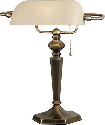 Kenroy Home Mackinley Banker Lamp, Georgetown Bronze Finish
