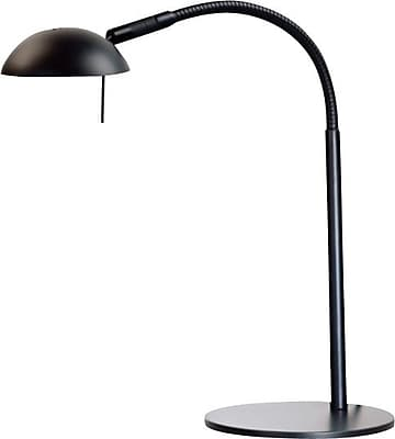 Kenroy Home Basis Halogen Desk Lamp, Black Finish