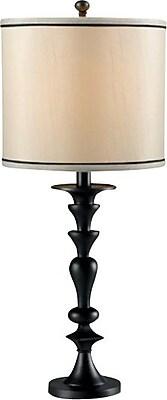 Kenroy Home Bobbin Table Lamp, Dark Graphite Finish