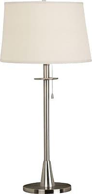 Kenroy Home Rush Table Lamp, Brushed Steel Finish
