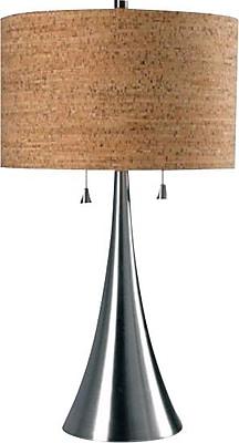 Kenroy Home Bulletin Table Lamp, Brushed Steel Finish
