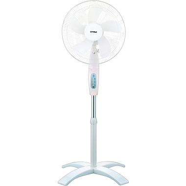Optimus Wave Oscillating Stand Fan with Remote, 16