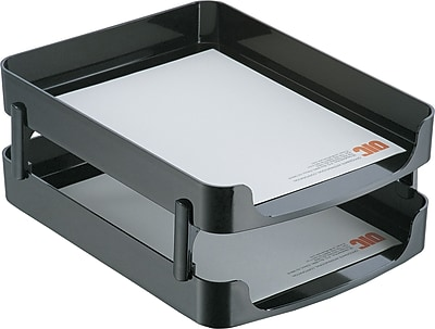 Officemate® 2200 Series Desk Accessories; Front Loading Letter Tray, 2 Per Pack