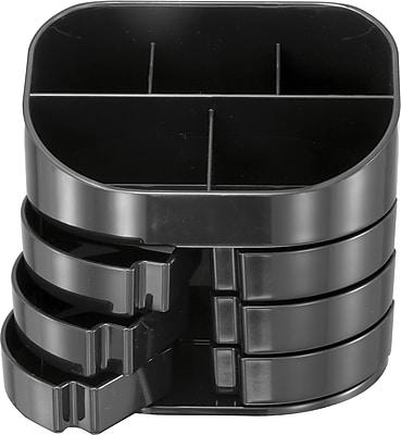 OIC® 2200 Series Black Plastic Double Supply Organizer
