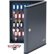 MMF Industries™ STEELMASTER® Security 60-Key Cabinet, Charcoal Gray