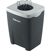 """Fellowes® Office Suites™ Paper Clip Cup, Black/Silver, 3-1/4""""H x 2-4/9""""W x 2-1/5""""D"""