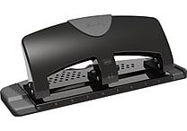 Swingline SmartTouch™ Reduced Effort 3-Hole Punch, 20 Sheet Punch Capacity, Black