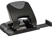 Swingline SmartTouch™ Reduced Effort 2-Hole Punch, 20 Sheet Punch Capacity, Black