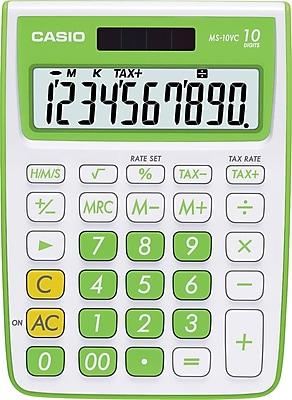 Casio® MS10VC-GN 10-Digit Display Calculator, Green