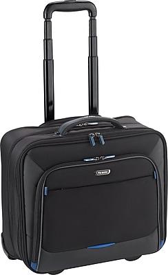 Solo Active Rolling Overnighter Laptop Case, Black-Blue Accents (TCC902-4/20)