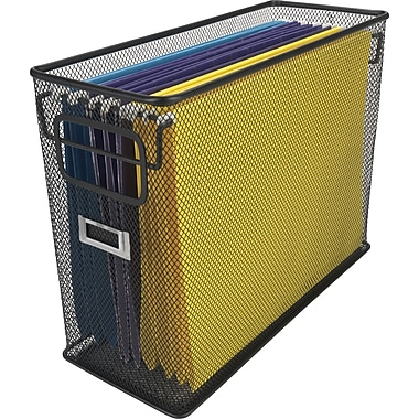 Staples Black Wire Mesh Tabletop File
